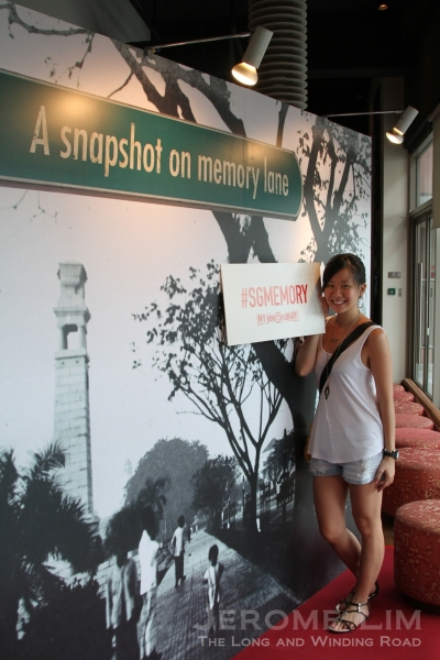 Visitors can take a photo at the exhibition or of themselves at a photo wall, share it on Twitter or Instagram with a #sgmemory hashtag, in order to stand a chance to win up to $200 weekly.