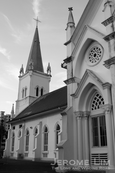 A church which was one of two landmark which marked the start of Punggol.