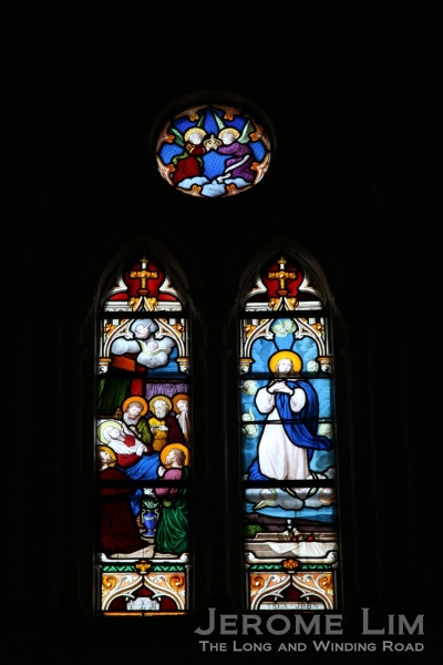 Some of the church's stained glass windows.