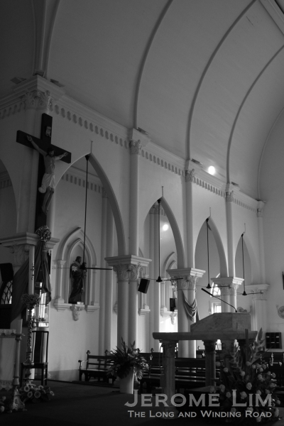 The transept which was an addition to the original church building illuminated by the soft natural light of the morning.