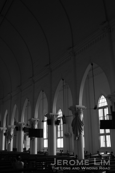 Seeing the light - the soft light illuminating the nave - part of the original structure.