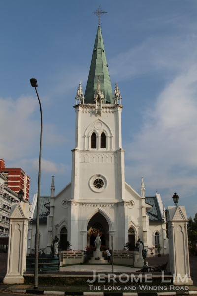 The Church of the Nativity of the Blessed Virgin Mary is one of several examples of the French Gothic church architecture adapted for the tropics.