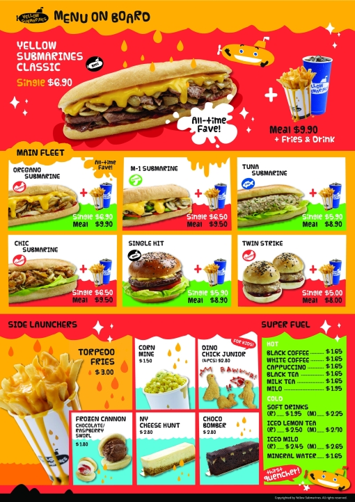 Yellow Submarines' menu has something to offer everyone.