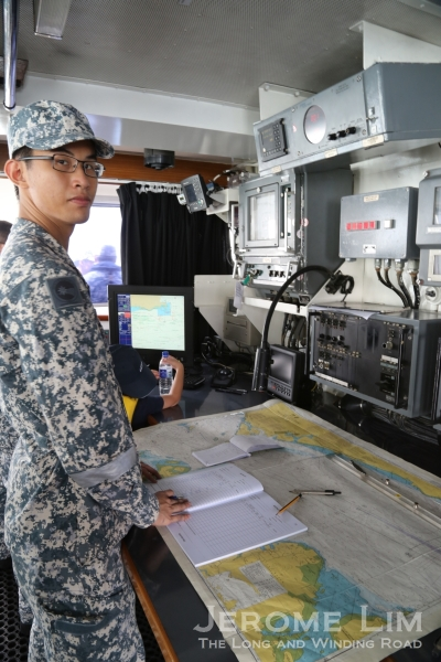 The navy relies a lot more on traditional navigational aids such as paper charts.