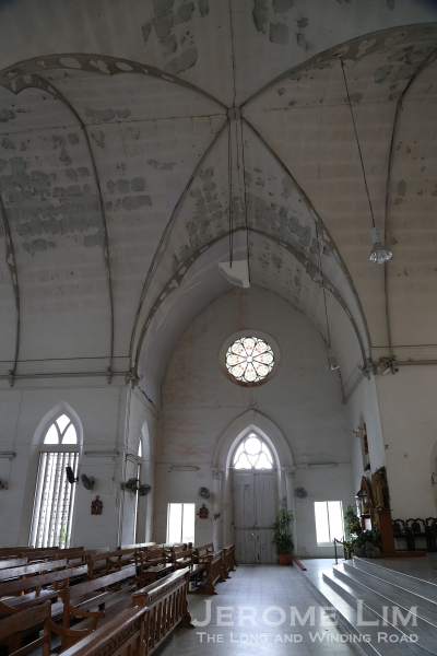 A view across the transept - the transept was added in 1891-92.