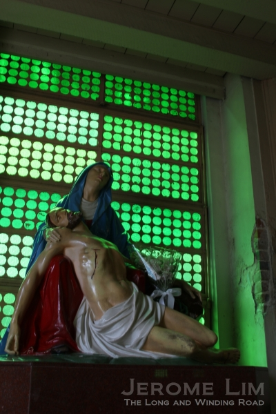 A  Pietà at the entrance.