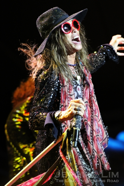 Steven Tyler exhibited the energy levels of a hyperactive six year old.
