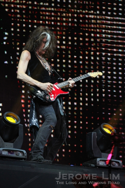 Joe Perry on guitars - was almost as energetic as Tyler.