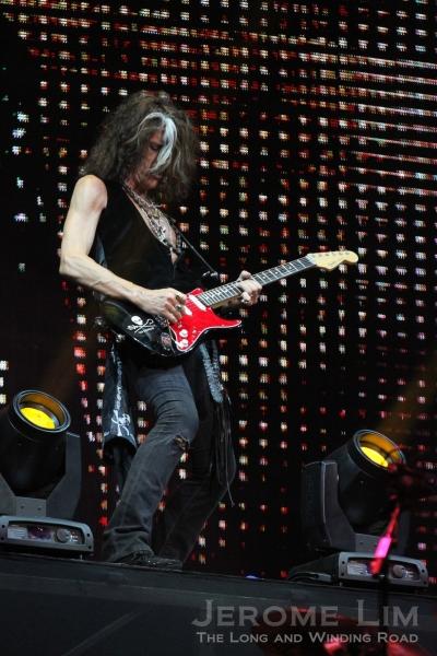 Joe Perry on guitars - was almost as energetic as Tyler.