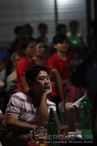Members of the audience had their eyes glued to the stage throughout most of the evening.