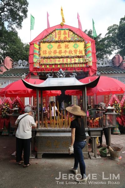 The Tam Kong Temple in Coloane seen during the Tam Kong Festival.