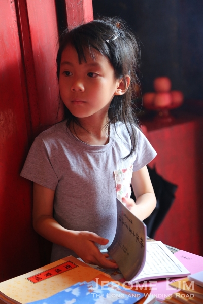 A girl seen at the temple.