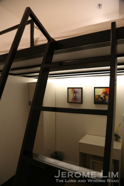 The private rooms are furnished with a Queen sized loft bed.