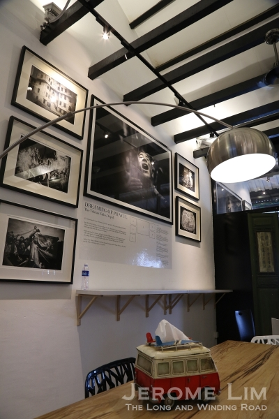 The Terrace lounge area is also where a gallery featuring award winning photojournalist Edwin Koo's works.