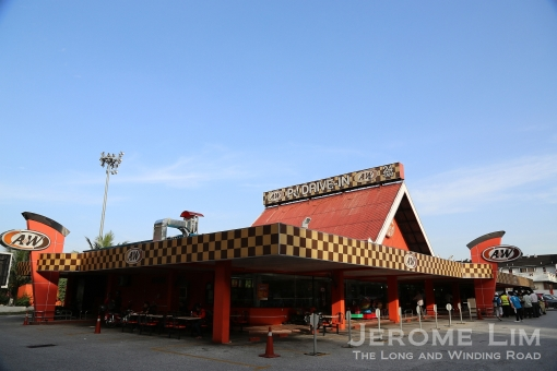 The first drive-in restaurant in Malaysia and Singapore - the A&W at Taman Jaya in Petaling Jaya, which is still operating (albeit not as a drive-in).