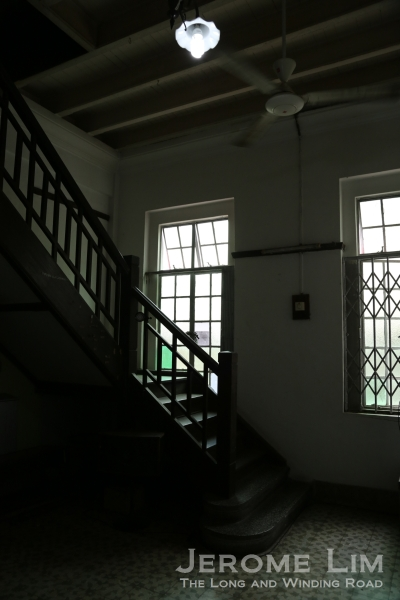 The stairway to the upper level.
