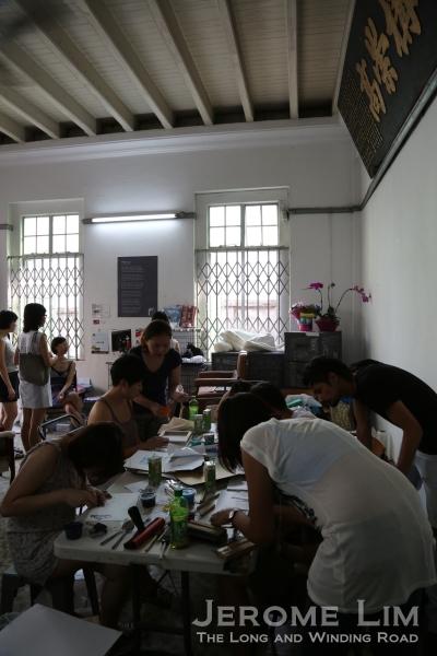 A workshop being held.