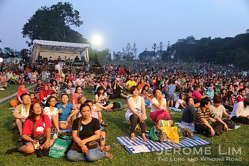The crowd on the lawn at The Meadow.