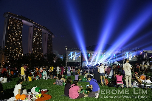 visitors to the gardens by the bay and guests to the gardens party one were treated