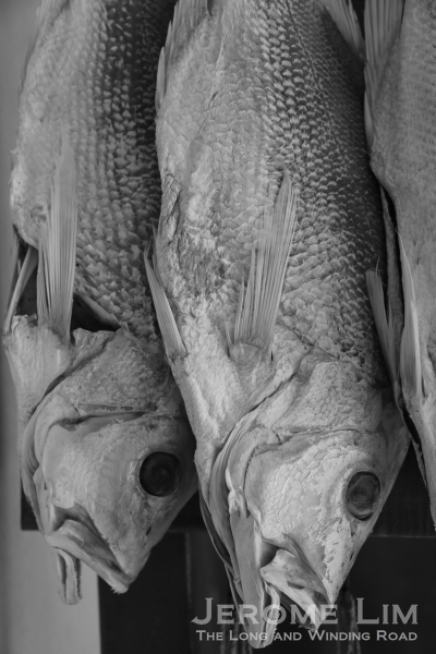 Salted fish on sale also provides a link to Coloane's origins - the village was where sea salt was farmed as well as a fishing village.