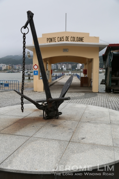 An anchor mounted on a pedestal near the Coloane Pier provides a link to the village's maritime past.