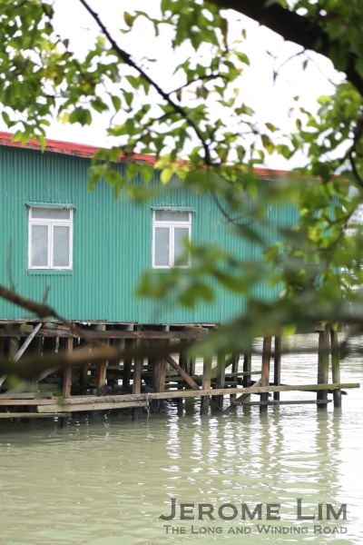 Zinc shelters on stilts can be found along the water's edge at the northern reaches of the village.