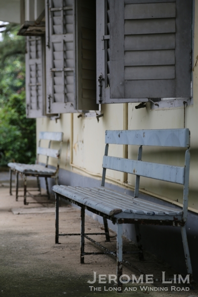 Benches line the wall of the Customs building which transports one straight into the colonial era.