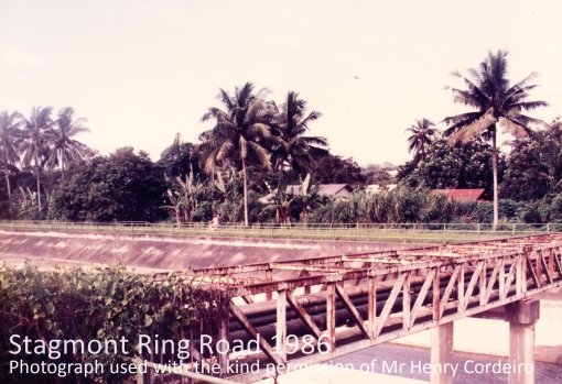 Stagmont Ring Village seen across the Pang Sua Canal in 1986 (photograph used with the kind permission of Henry Corderio).