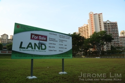 A sign foretells the fate of a plot of land which has stood empty since the beginning of Toa Payoh's days as a public housing estate.