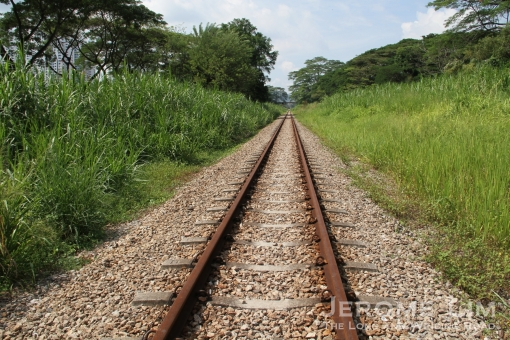 The rail corridor in the area before the tracks were dismantled.