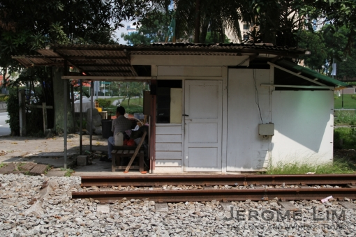 The signal hut at Stagmont Ring Road (Mandai Gate Crossing).