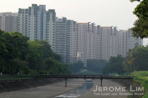 The former Yew Tee Village - now dominated by the towering blocks of the new Singaporean village.