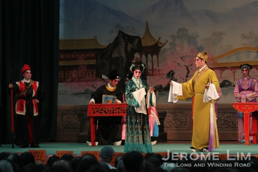 A Cantonese Opera performance seen on stage.