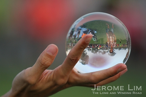 Peering through a crystal ball.