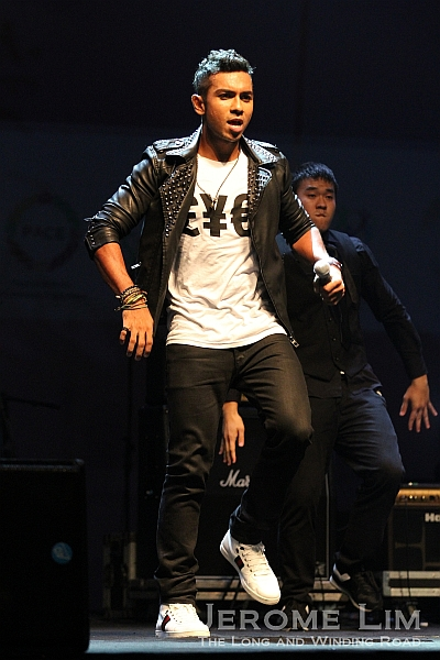Taufik show off some of his dance moves.