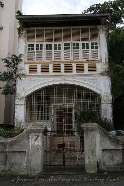 7 Wilkie Terrace (since demolished) seen in Nov 2012.