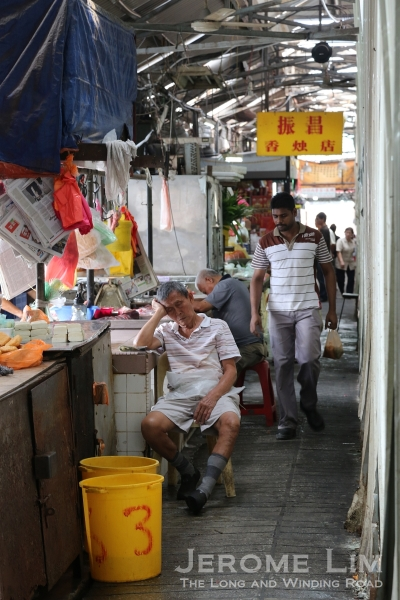 The wet market at Madras Lane is not as busy as it once might have been.
