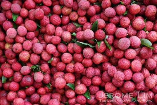 Lychees on sale at the Petaling Street market. The area is one of the more colourful areas of KL.