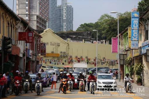 A look down Jalan Sultan.
