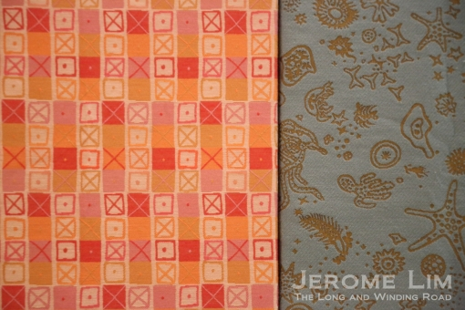 Fabrics designed by the Eames.