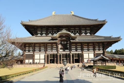 The Great Buddha Hall, Daibutsuden, of the Todaiji.