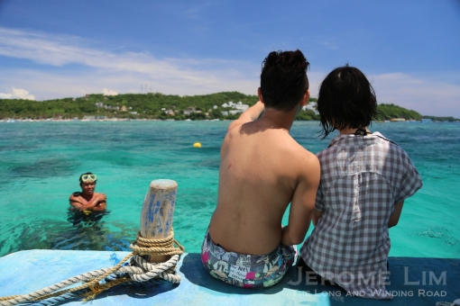 The enticing waters of Boracay is an invitation for anyone to jump right in.