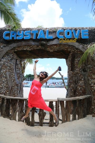 A Ninja Girl jump at Crystal Cove Island.