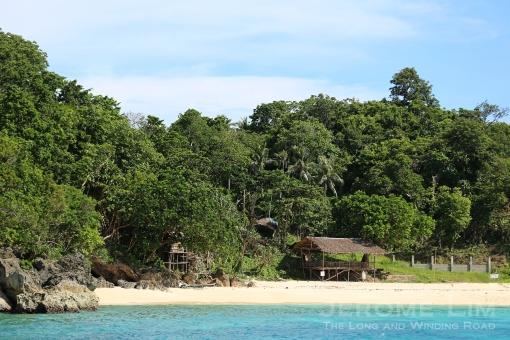 A beach on the north-eastern coast.
