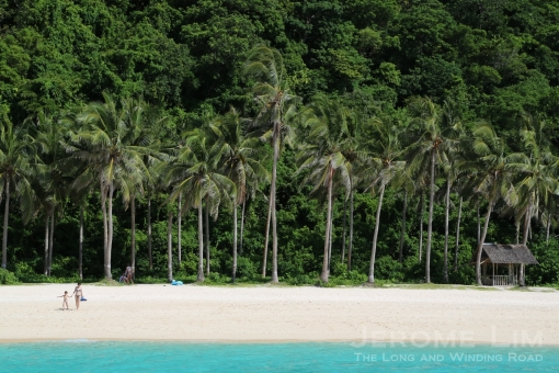A view of Puka Beach from the sea.