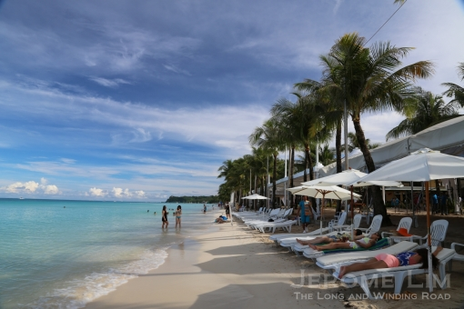 White Beach Boracay - where mcuh of the action takes place.