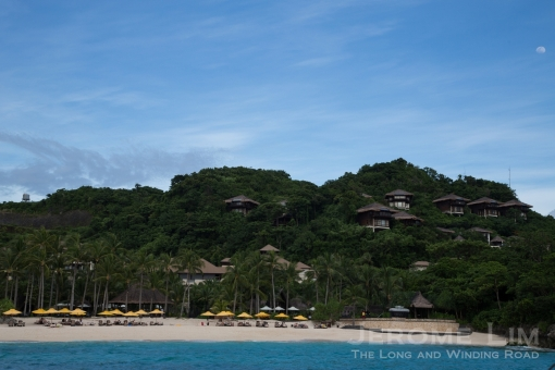 The beach at Shangri-la Boracay.