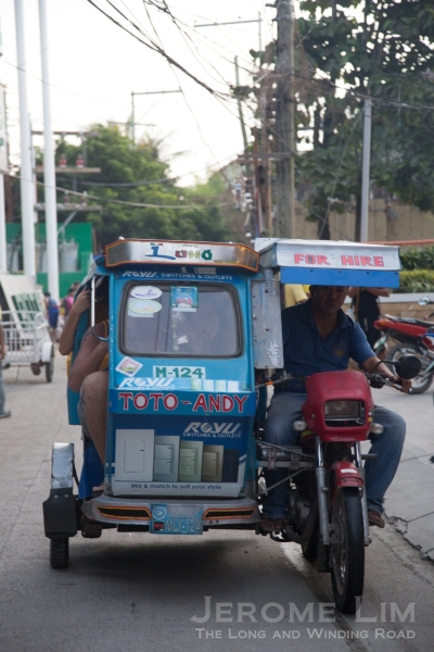 A tricycle taxi.