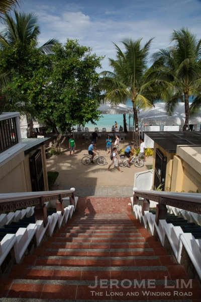 The stairway to heaven - from the beachside Boracay Regency to the beach at Boat Station 2.