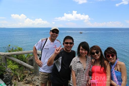 On Crystal Cove Island looking east towards the Sibuyan Sea.